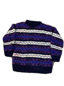 Mens-XL-Polo-Ralph-Lauren-100-Wool-Knit-Sweater-Vintage-90s