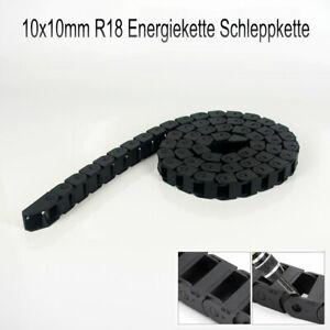 7x7mm//10x10mm 1Meter Nylon Schwarz Energiekette Schleppkette Hochwertige