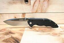 High Performance Sanrenmu Sharp Folding Pocket Knife w/ Flipper 4.33'' closed