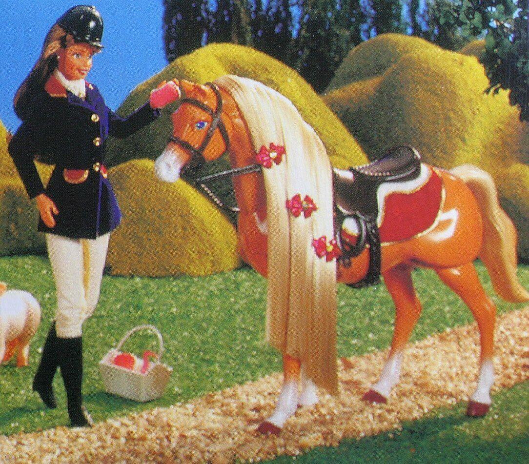 "Barbie DOLL & Walking HORSE  Together"" BARBIE  & WALKING  HORSE   SET NEW IN BOX"