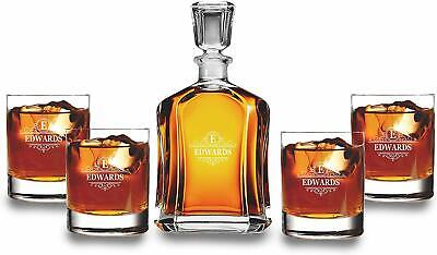 Personalized Whiskey Decanter Set with