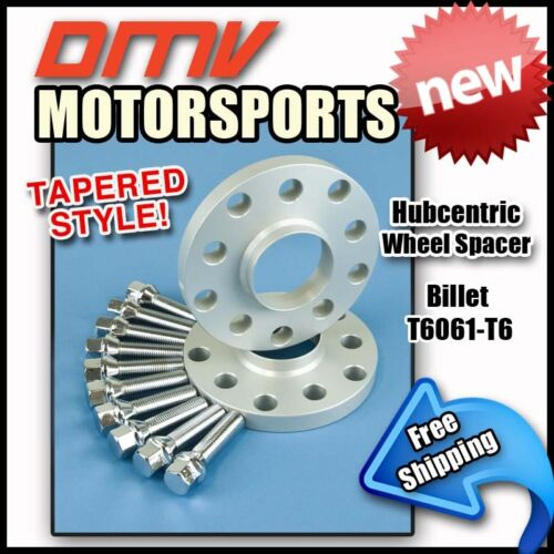 20MM Hubcentric Wheel Spacers Silver Tapered Bolts BMW 5x120 72.5 12x1.5