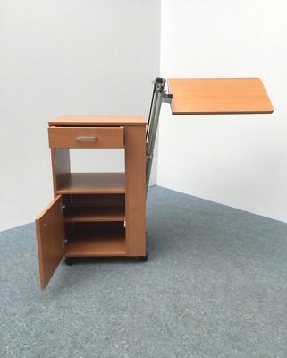 NEUWARE Nachtschrank mit Betttischplatte höhenverstellbar Betttisch Pflegebett | eBay