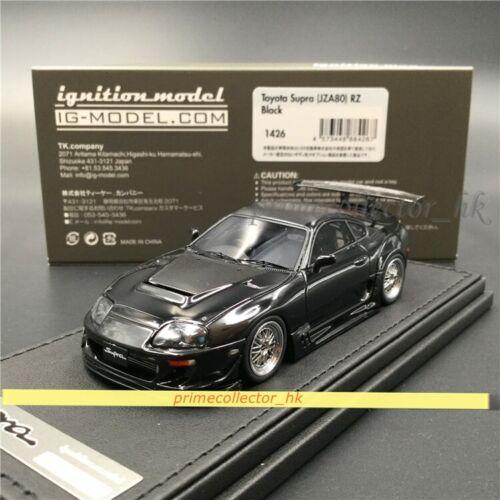 JZA80 Ignition Model 1//43 Toyota Supra RZ Black IG1426