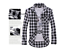 Men/'s Classic Fashion Casual Check Long Sleeve shirt with 5 Colors 003