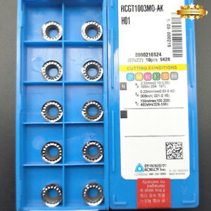 For Aluminum RCGT0803MO-AK H01 milling inserts indexable cutting tool 10pcs