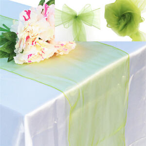 Organza-12-034-x108-034-Table-Runners-7-034-x108-034-Chair-Sashes-Wedding-Party-Decorations
