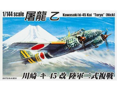 Kawasaki Ki-45 Kai Toryu Nick 2 kits in a box 032060  AOSHIMA 1:144  Plastic kit