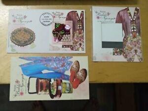 Malaysia-3D-Embroidery-Baba-Nyonya-Straits-Settlement-Peranakan-stamp-FDC