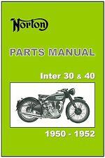 NORTON Parts Manual Model International Inter 30 40 1950 1951 1952 Catalog List