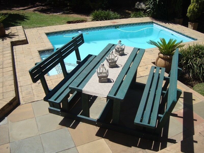 Plastic Wood Furniture Benches Sets Chairs Tables Poles Planks