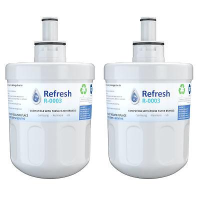 Fits Samsung Swift Green SGF-DA20B Refrigerators Refresh Water Filter 2 Pack