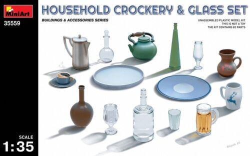Miniart 1:3 5 Househiniart 1:3 5 Waage Haushalt Geschirr Glas Set MIN35559