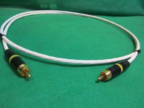 4 FT SILVER PLATED AUDIOPHILE INTERCONNECT S//PDIF RCA DIGITAL CABLE.