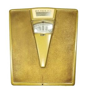 Vintage Detecto Gold and Black Bathroom Scale working |F3 ...