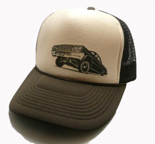 Vintage Lowrider Hat Trucker hat adjustable Snap Back tan brown new Cruising hat