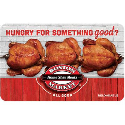 $10 Boston Market Gift Card - Mail Delivery