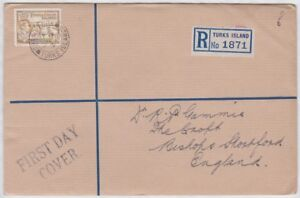 TURKS-IS-GVI-1938-REGISTERED-FDC-cover-to-UK