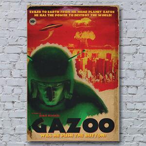 Gazoo-B-Movie-Canvas-Wall-Art-Print-Vintage-Rare-Retro-Looney-Tunes-Cartoon
