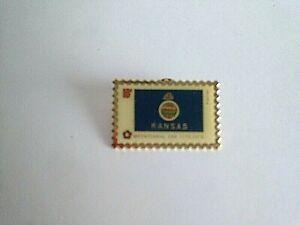 Vintage-Kansas-Bi-centennial-Pin-Back-Tie-Tac-Lapel-Hat-Pin-1-5-034-X1-034