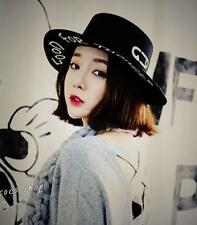 Harajuku FOOD FOR THOUGHT Wool Bowler Hat KPOP Bigbang GD 2PM Nichkhun Style Cap