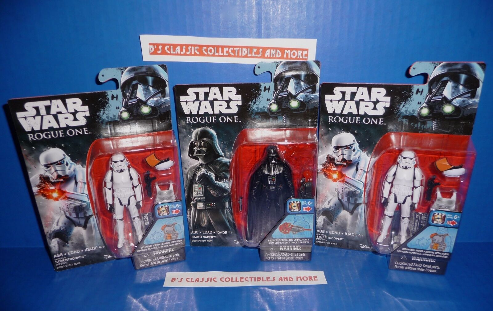 Star Wars Rogue One 3.75   Figures - Darth Vader, Imperial Stormtroopers New