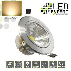5-x-3w-LED-Expert-Warm-White-Tilting-led-Down-Lighters-Silver-Bezel-IP40-230v
