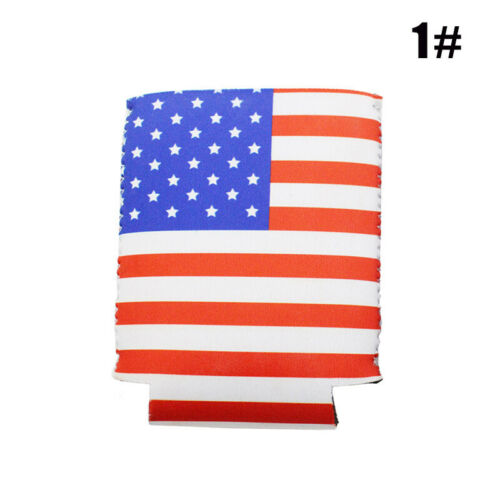 American Flag Cans Cooler Cover Sleeves Patriotic Stars Stripes Festival Decor