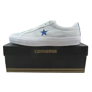 Details about Converse One Star OX Leather Casual Shoes Roadtrip Blue White  153992C Mens Size