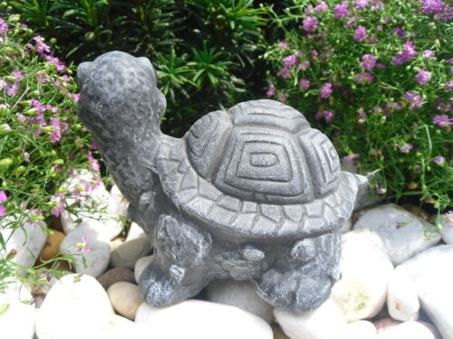 Gartenfigur Gartendeko Geschenk Figur Tierfigur Steinfigur Schildkröte