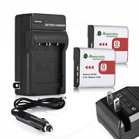 Type Battery+charger For Sony Cybershot Np-bg1 Fg1 Dsc-h20 H9 H3 T100 W80 W90