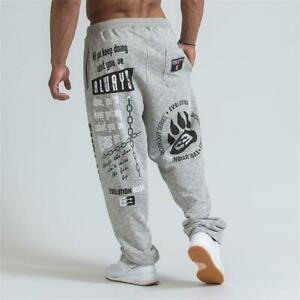 Men-039-s-Running-Jogging-Cotton-Soft-Bodybuilding-Joggers-Sweatpants-Harem-Long-Tro