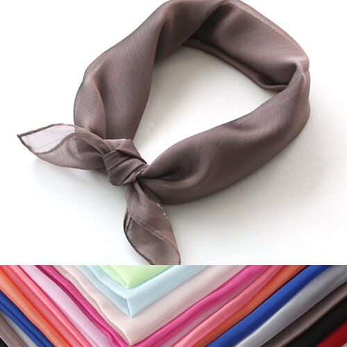A0105 KKUSEBO logo SUPER SOFT chiffon Scarf NEW headscarf Bandana CUTE KOREAN