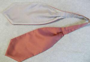 Garçons Cravate Mariage Ascot Cravate Formal Party Taille Unique Noir Rose Saumon-afficher Le Titre D'origine Art De La Broderie Traditionnelle Exquise