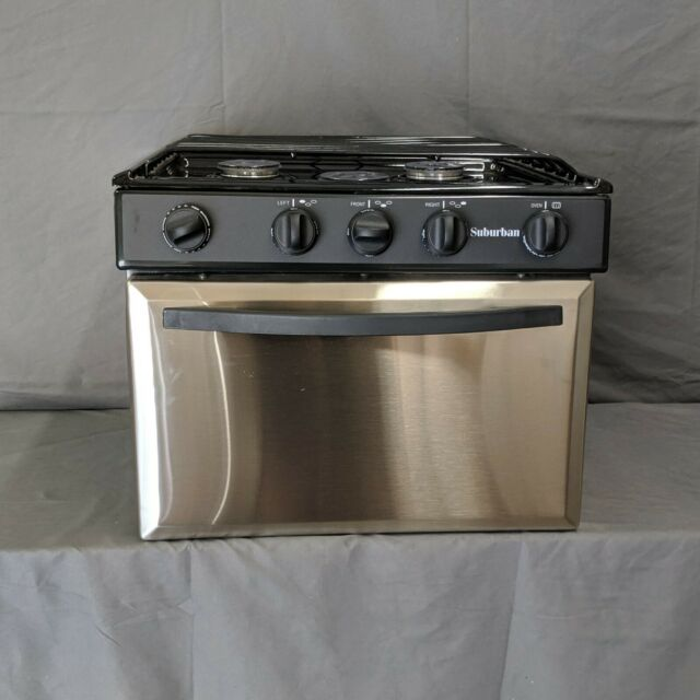 Rv Stove Oven >> 17 Stainless Steel Suburban 3 Burner Lp Gas Range Stove Oven Rv Piezo Ignition