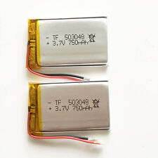 2 pcs 750mAh 3.7V Lipo Polymer Battery For MID DVD GPS PDA mobile phone 503048