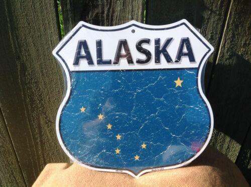 """Alaska State Flag US Highway Sign Novelty Metal 12/"""" x 12/"""" Road"""