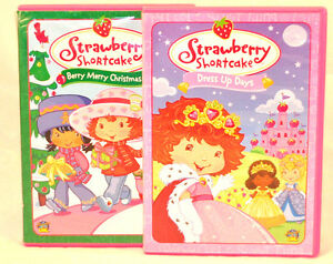 Shortcake dvds berry merry christmas dress up days lot of 2 ebay