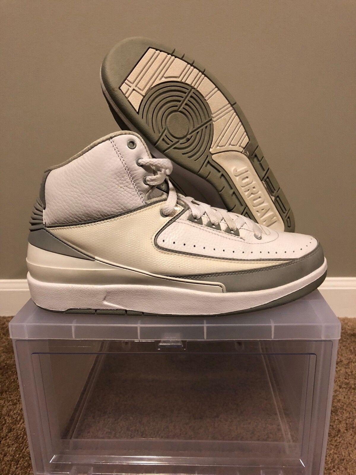 Air Jordan 2 Silver Anniversary 385475-101 Comfortable
