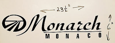 MONARCH MONACO RV MOTORHOME CAMPER LOGO DECAL LEGEND GOLD PEWTER 23X6 GRAPHIC