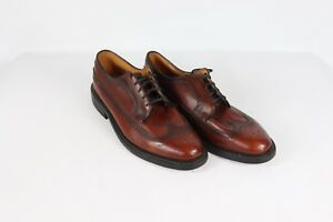 98d143684c1f1 Vintage 80s JCPenney Mens 12 EEE Pebbled Grain Leather Wingtip Dress ...