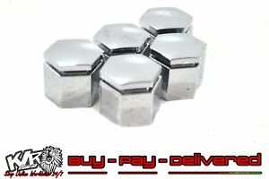HSV Holden VE Commodore WM 22 mm Silver Wheel Nut Caps Covers Pack of 5 Caps NOS