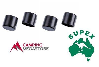 SUPEX PLASTIC TENT POLE END CAP 22MM 4 PER PACK