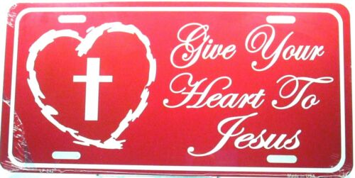 Religious license plate Give your heart to Jesus New aluminum auto tag LP-0242