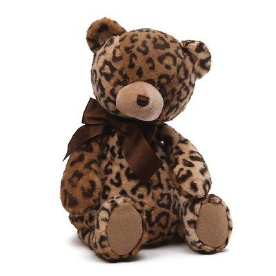 "BABY GUND  BEAR - 15"" LEOPARD PRINT JAYME -  POSH PLUSH"