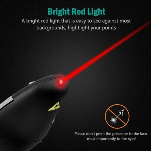 Wireless USB Remote Control Clicker PPT Presenter PowerPoint Laser Pointer Pen
