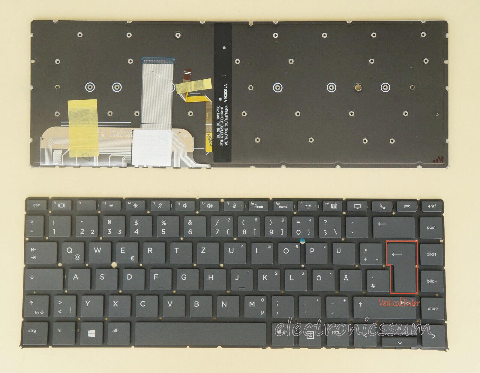 , E9Y58EA mit Beleuchtung Deutsche Tastatur 450 G1 450 G1 f/ür HP ProBook 450 G1 E9Y09EA Version 2 450 G1 mit Rahmen E9Y49EA E9Y55EA