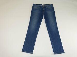 "Paige Women's Skyline Ankle Peg Jeans Size 32 Blue Stretch 29"" Inseam Denim"