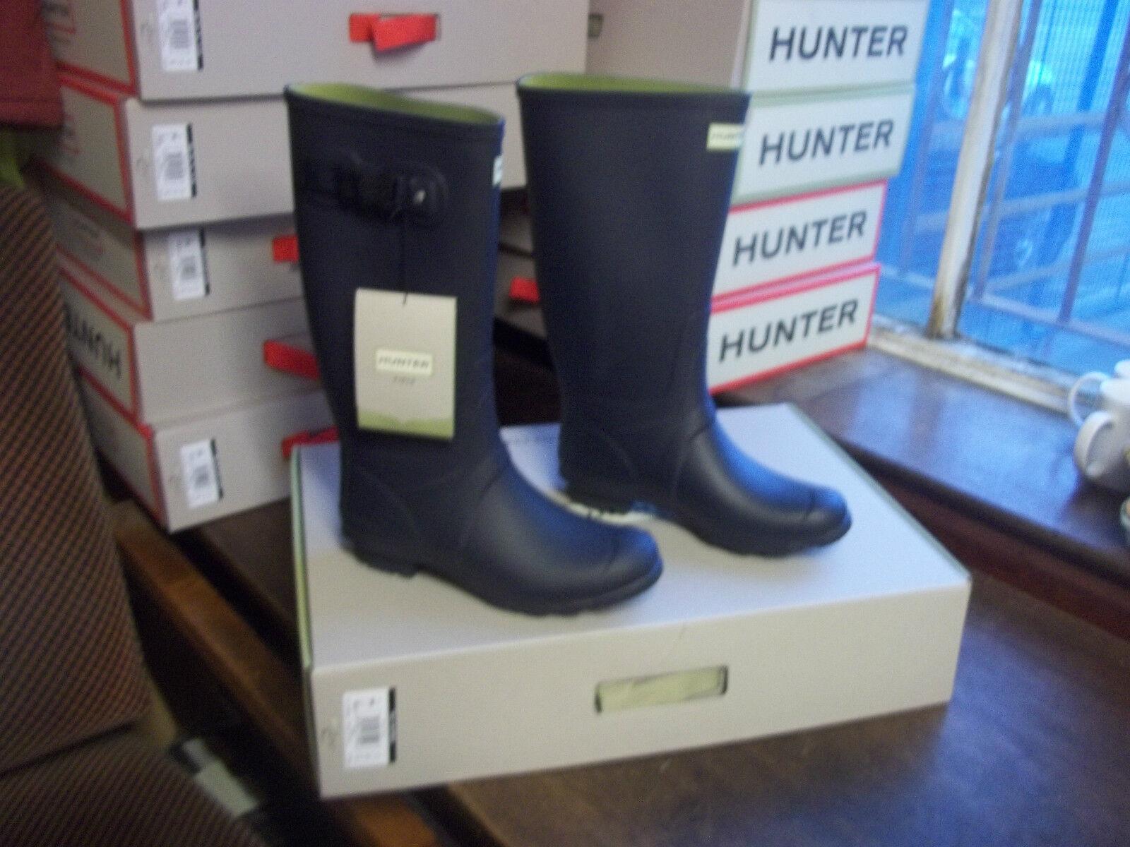 Huntress Stivali di gomma Stivali di gomma a Halifax Taglia 8 Blu scuro ALTO