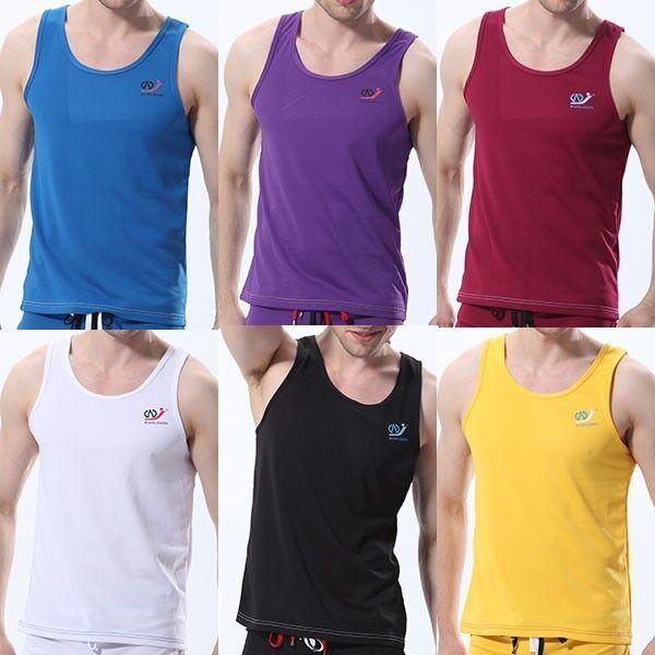 NWT Athletic Men Sport Sleeveless Tops Tank Vest GYM T-Shirt Fit Size M L XL